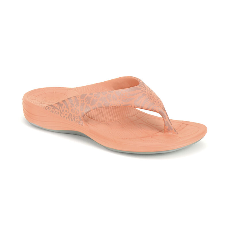 Maui Animal Print Orthotic Flips- Women