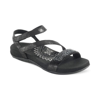 Gabby Jeweled Adjustable Quarter Strap Sandal
