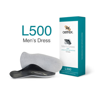 Men's Dress Orthotics - 3/4 Insole for Dress Shoes