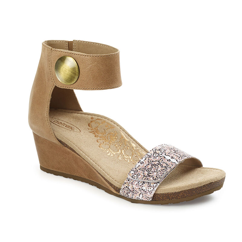 Becca Quarter Strap Wedge Sandal