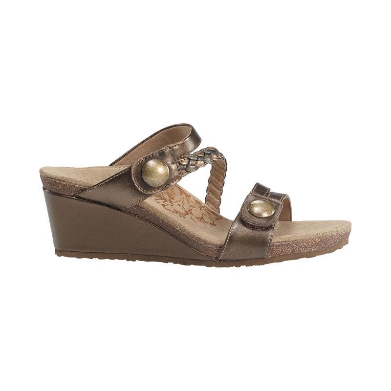 Lydia Adjustable Slide Wedge Sandal