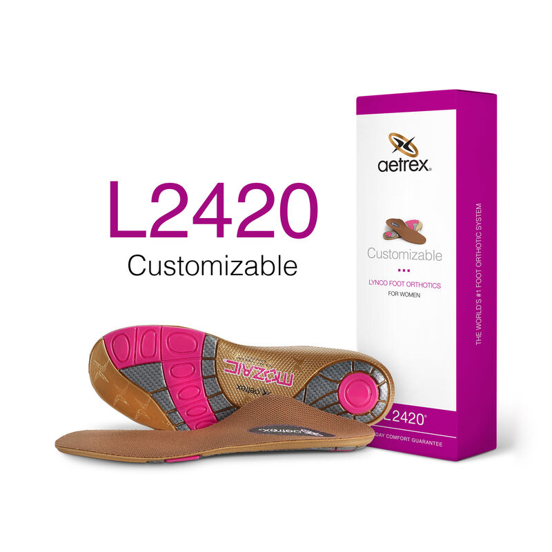 Customizable Flat/Low Arch Orthotics For Women