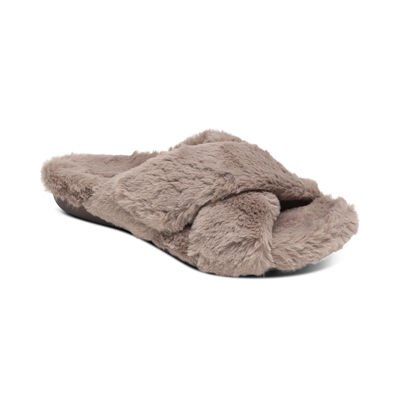 Penelope Adjustable Faux Fur Slippers