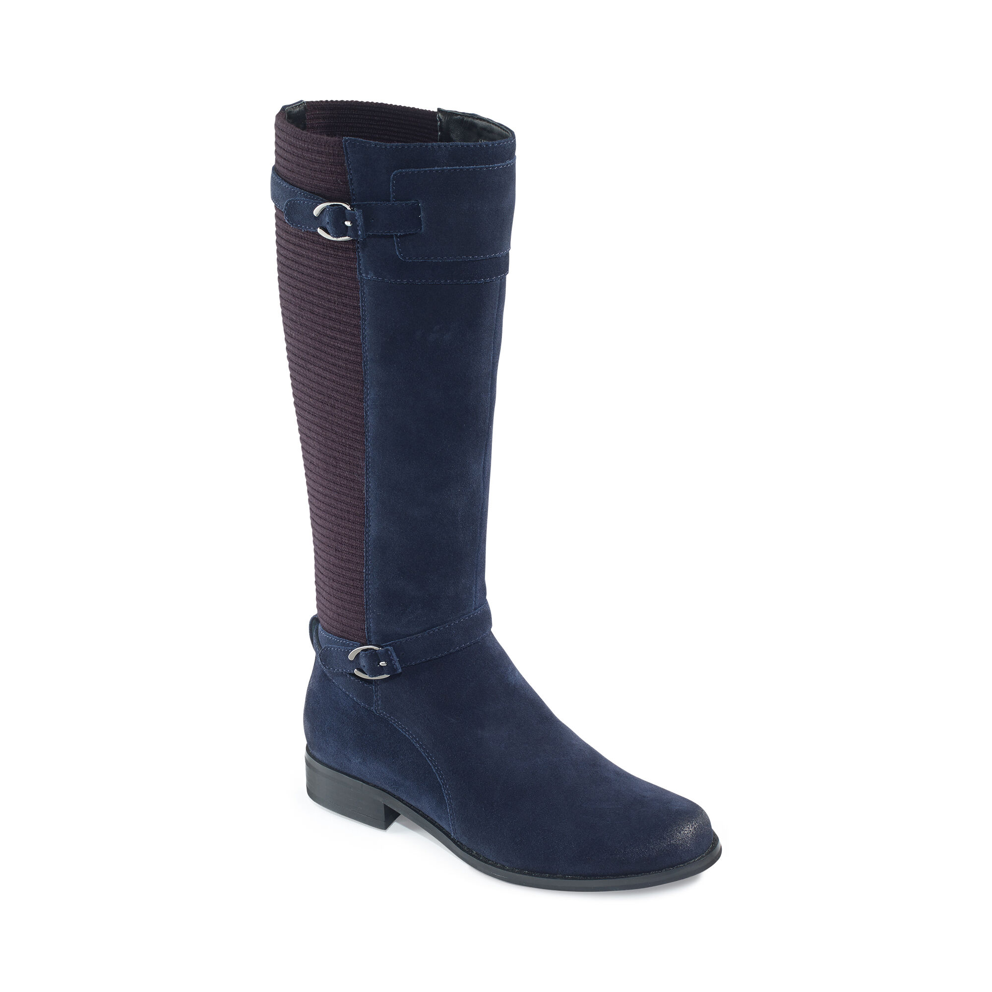 Chelsea Riding Boot - Navy Suede