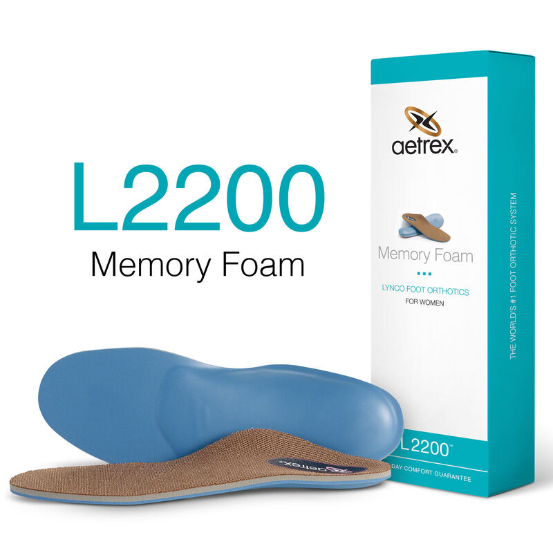 Memory Foam Med/High Arch Orthotics For Women