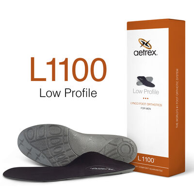 Men's Low Profile Orthotics - Insoles for Shoes with No Depth