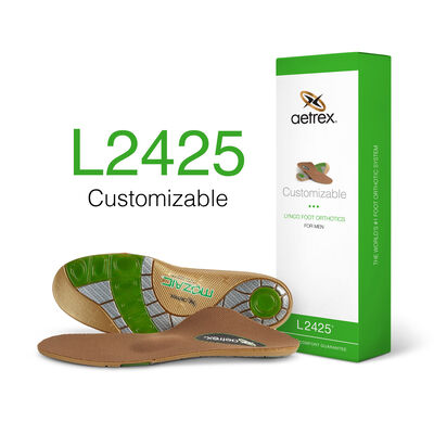 Men's Customizable Posted Orthotics W/ Metatarsal Support
