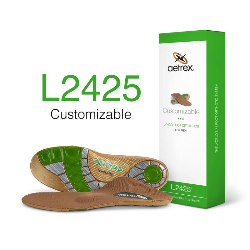 Men's Customizable Flat/Low Arch W/ Metatarsal Support