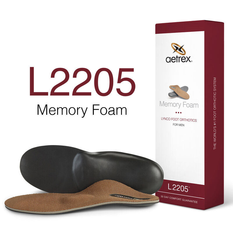 Memory Foam Med/High Arch W/ Metatarsal Support For Men