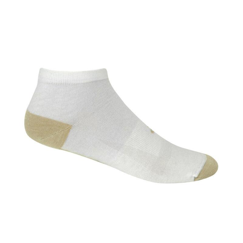 Copper Sole Socks Athletic Low Cut White