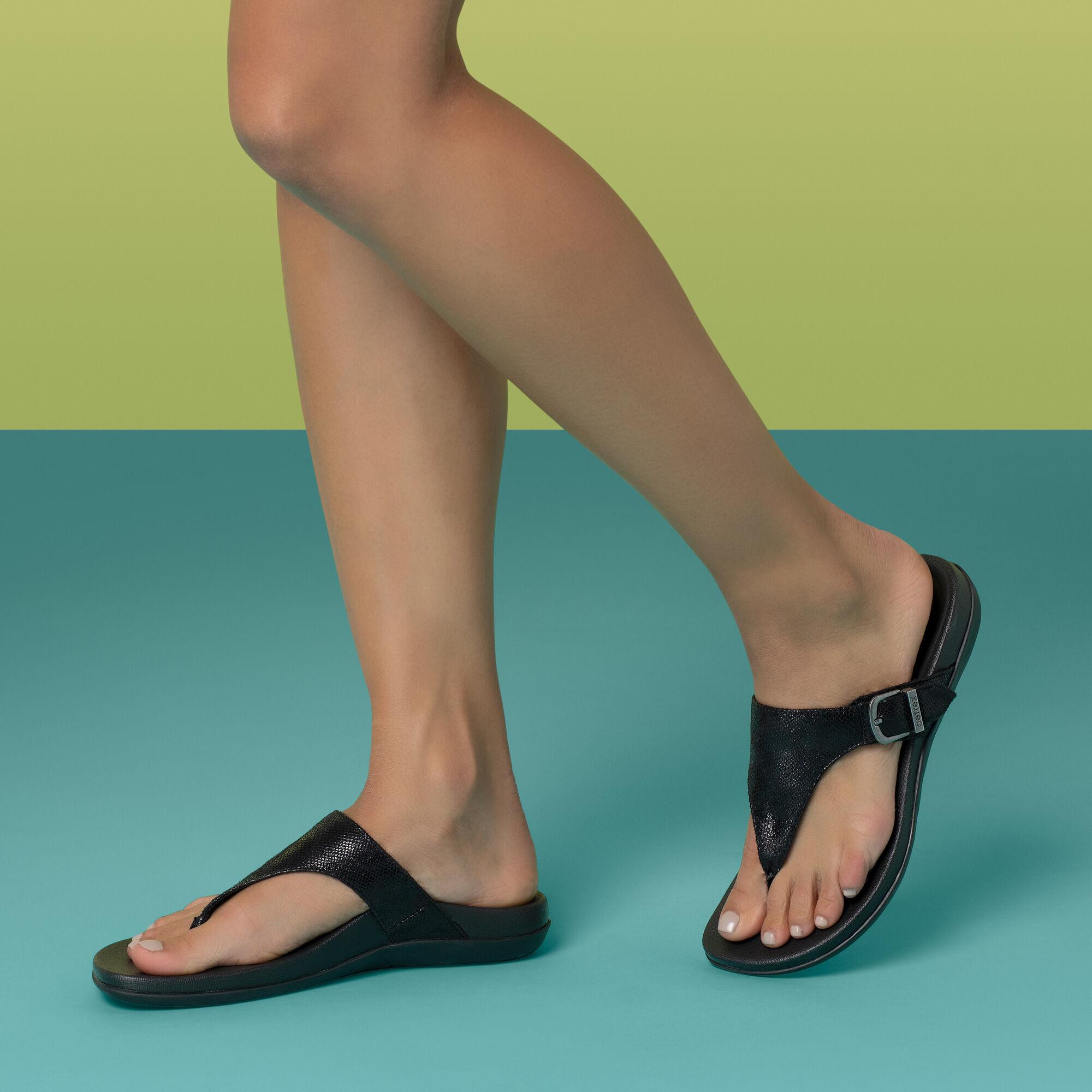 orthotic thong sandals
