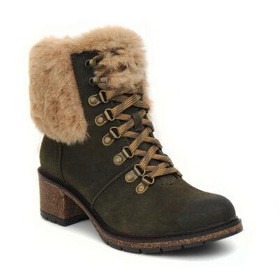 Brooklyn Weatherproof Fur Lace Up Boot
