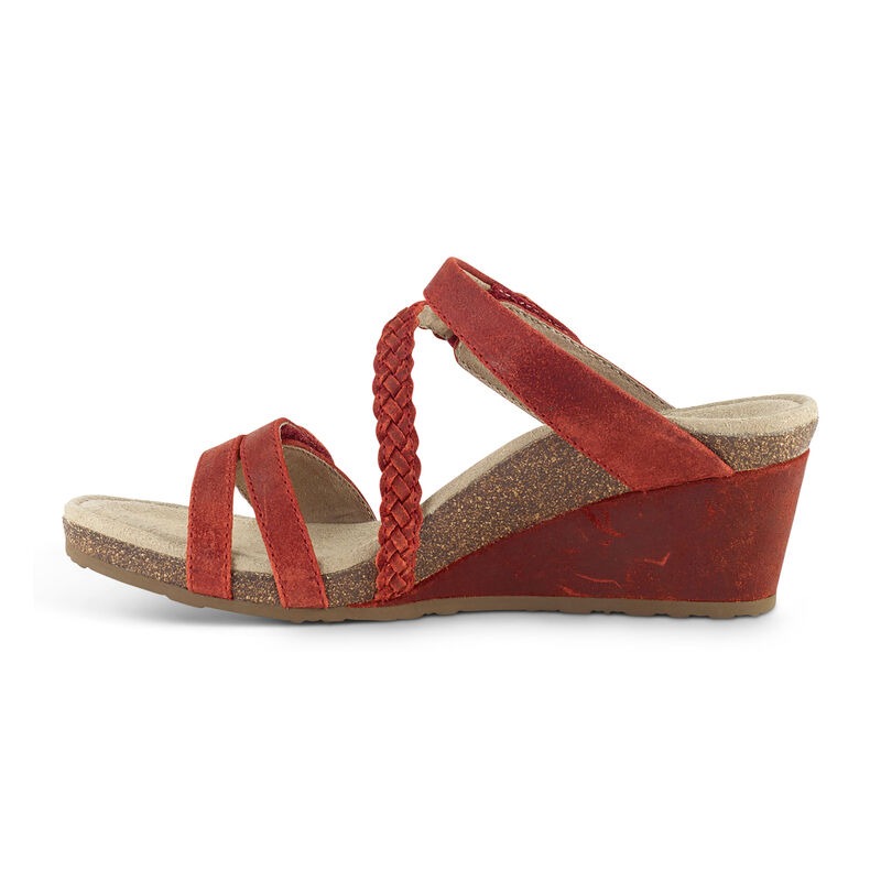 Lydia Adjustable Slide Wedge Sandal