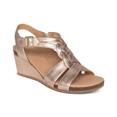 Keira Woven Quarter Strap Wedge