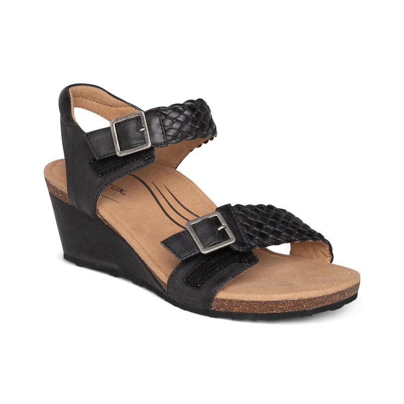 Grace Adjustable Woven Wedge