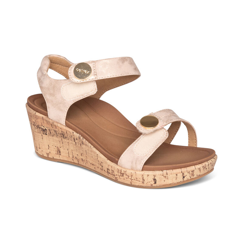 Livia Adjustable Quarter Strap Wedge