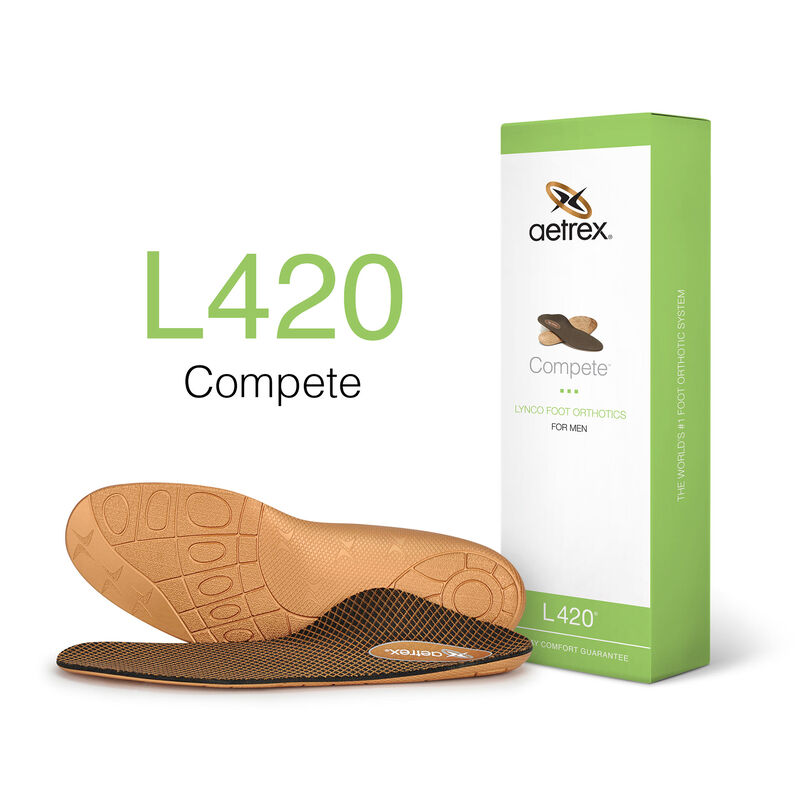 Compete Flat/Low Arch Orthotics For Men