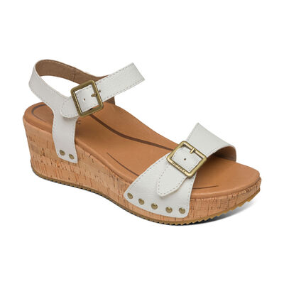 Melody Platform Quarter Strap Wedge