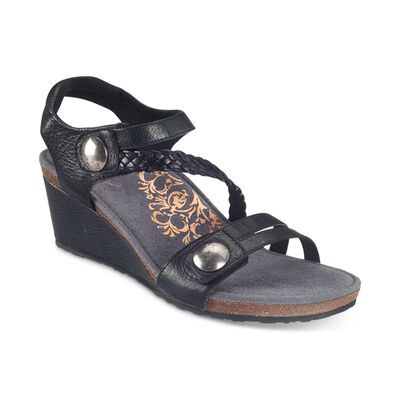 Naya Braided Quarter Strap Wedge Sandal