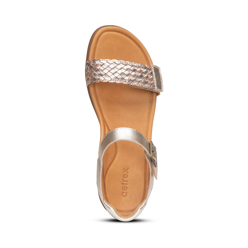 Lucy Woven Quarter Strap Sandal