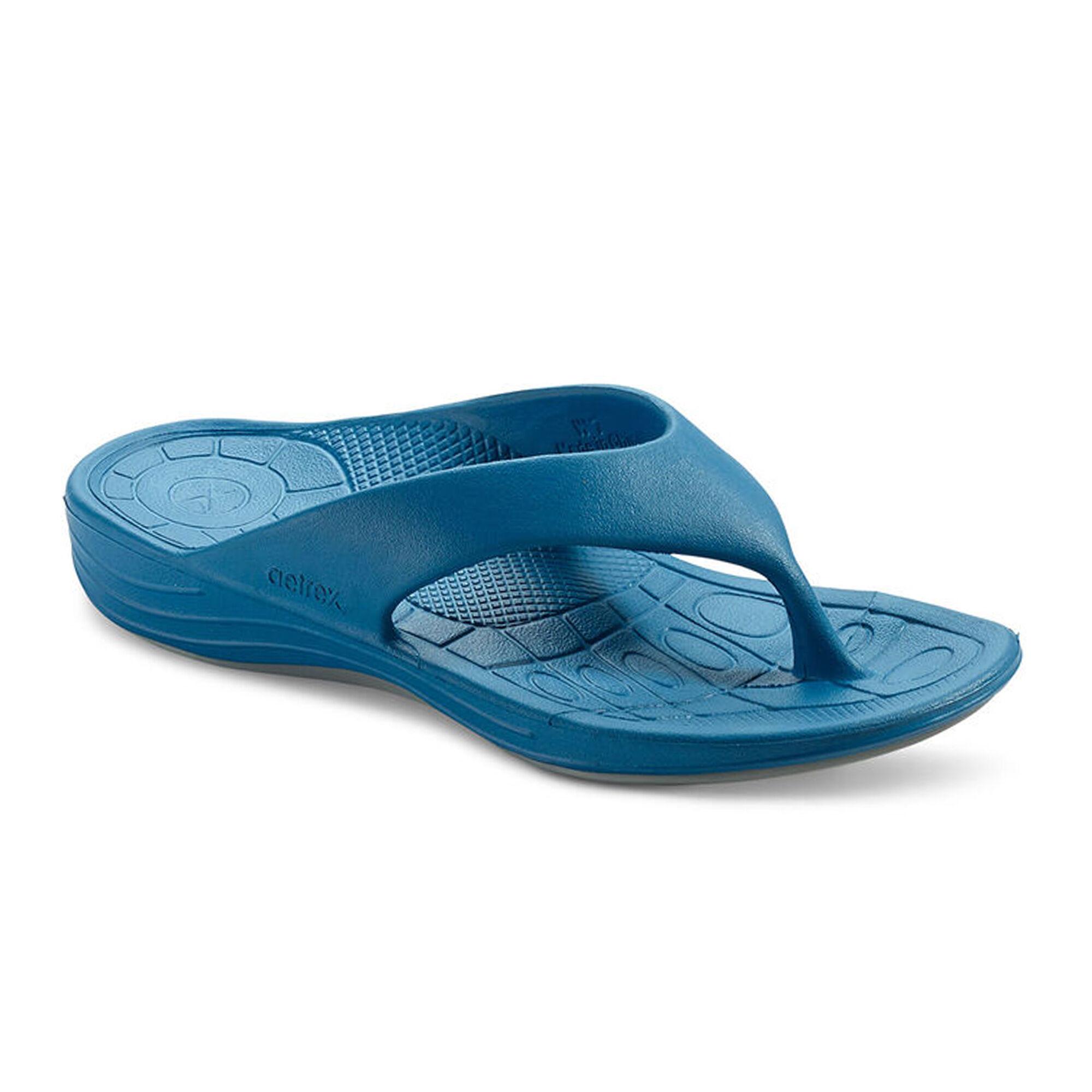 Aetrex Women/'s Lynco Flip Sandal Blue L3600W Brand New with Tags