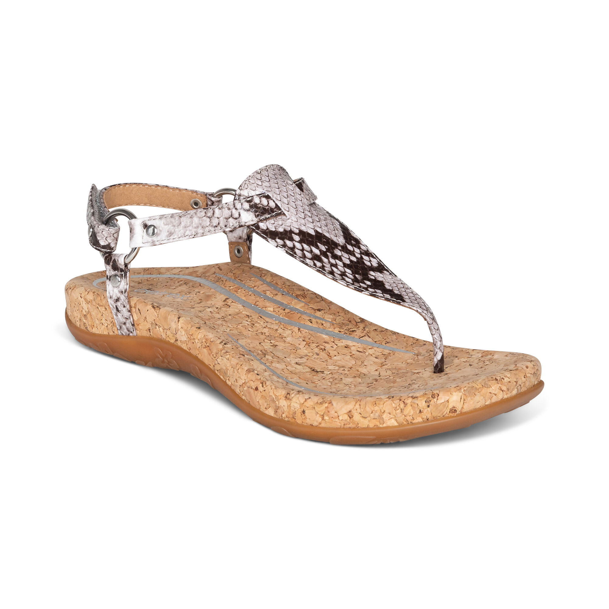 Emilia Slingback Thong Sandal - Snake