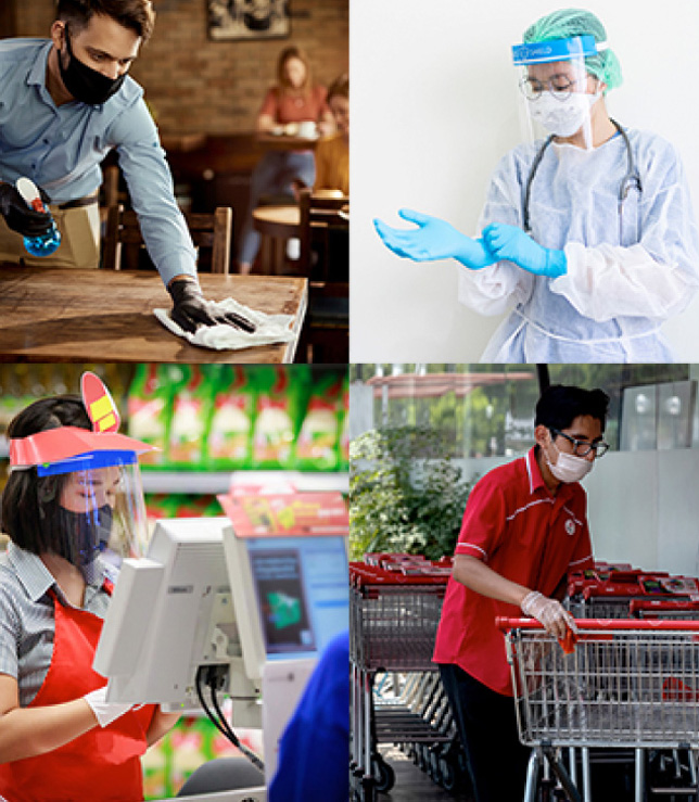 Collage of Essential Workers