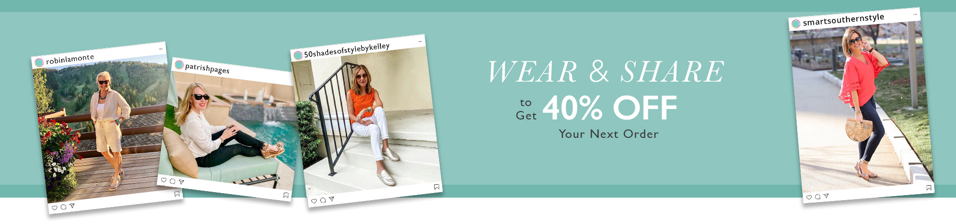 Aetrex Wear and Share Campaign - 40% off next order