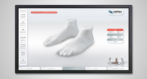 Aetrex Albert Foot Scanner Dashboard