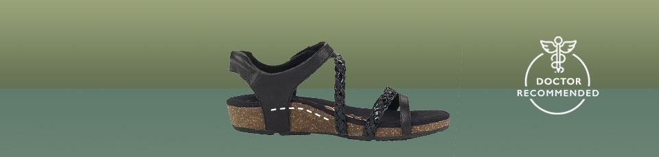 Women's sandals with superior arch support built right in to help fight foot pain!