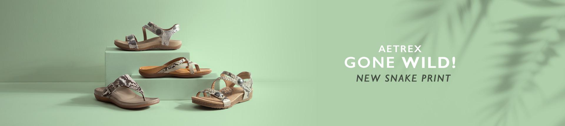 Shop Snake Skin Print Sandals