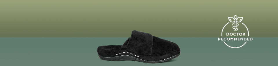 Shelby is not your ordinary slipper for women, it has superior arch support built right in to help fight foot pain!