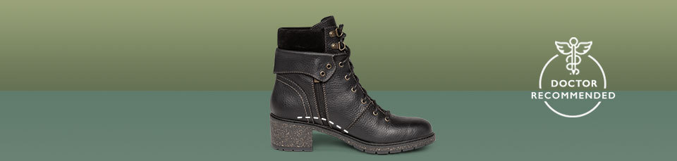 Aubry is just one of our many boots that helps to fight foot pain with its built-in, uniquely placed arch support.