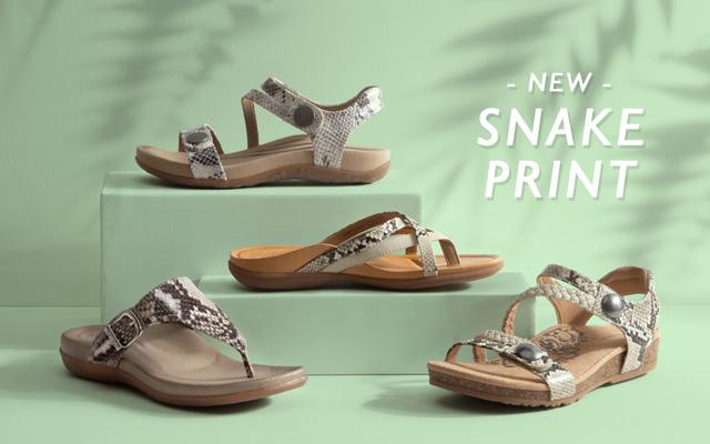 Aetrex New Snake Print Sandals
