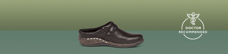 Like all of our clogs, Libby has unique arch support built-in that is placed to help relieve pain from foot conditions.